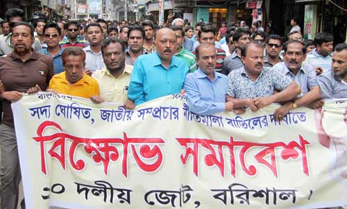 BNP led alliance held agitation procession