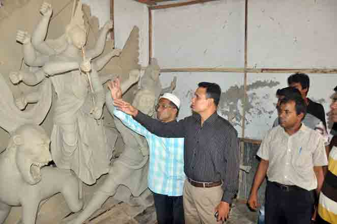 Idols of Durga Puja Temple damaged in the city