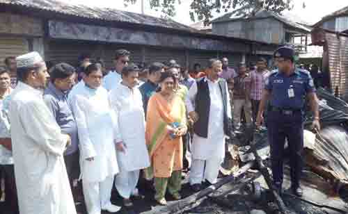 Fire gutted 13 shops in Agoiljhara