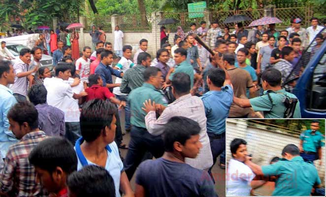 barisal-b-m-college-police-clash bm-college-oc-shakhawat বিএম কলেজ শিক্ষার্থীদের ওপর পুলিশের লাঠিচার্জ