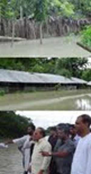বন ও পরিবেশ মন্ত্রীর জলবদ্ধ এলাকা পরিদর্শন