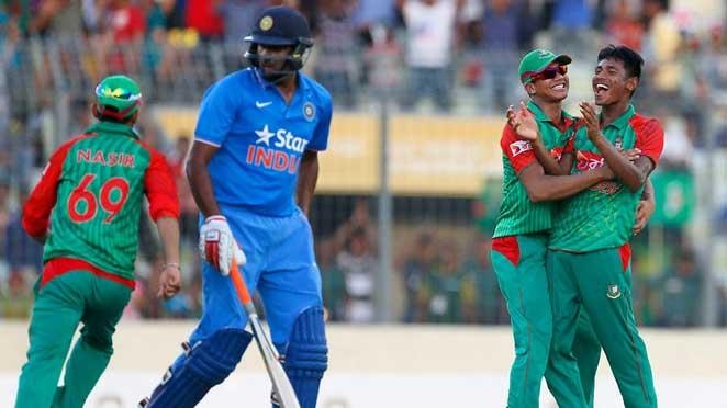 bangladesh-india-match মুস্তাফিজের তোপে ২০০ রানে অলআউট ভারত