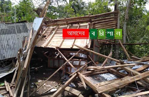 বরগুনায় কালবৈশাখীর তান্ডবে অর্ধশতাধিক ঘরবাড়ি ক্ষতিগ্রস্ত