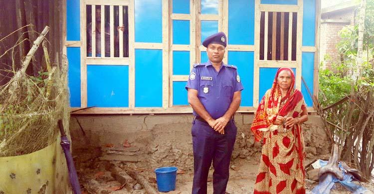 নতুন ঘর পেলেন পটুয়াখালীর বীরাঙ্গনা ফুল বরু