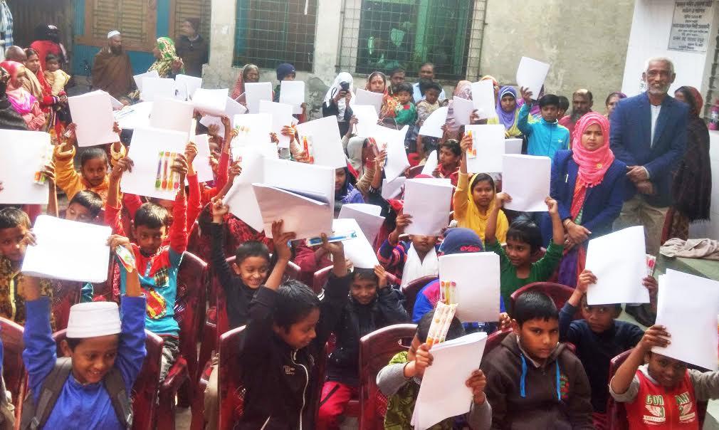 কাউখালীর ৫০ শিক্ষার্থী পেল শিক্ষা উপকরন