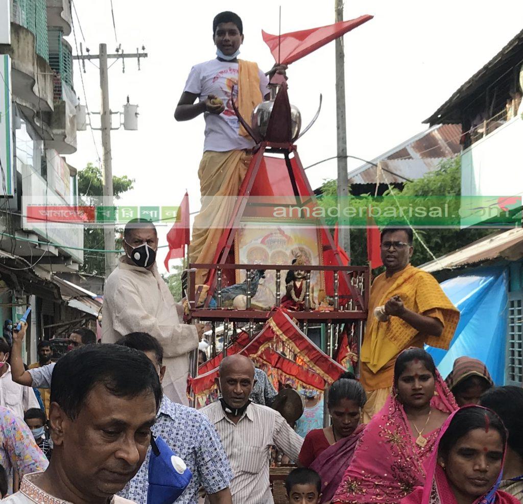 বাউফলে জগন্নাথ দেবের রথযাত্রা অনুষ্ঠিত