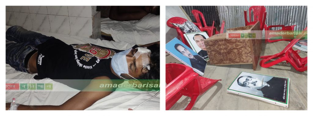 কলাপাড়ায় প্রতিপক্ষের হামলায় ছাত্র কল্যান সংসদ ক্লাব ভাংচুর, দুই ছাত্রলীগ কর্মী আহত