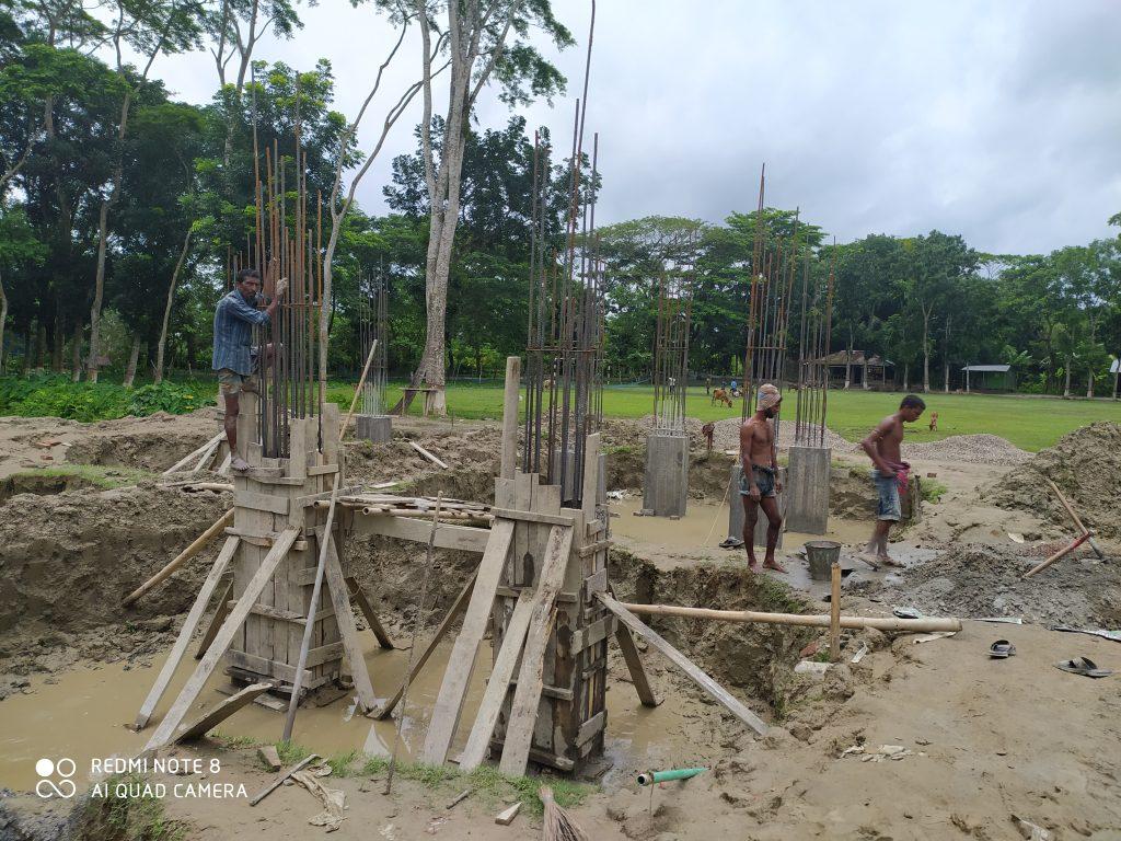বাউফলে বিদ্যালয় ভবন নির্মাণ কাজে অনিয়ম